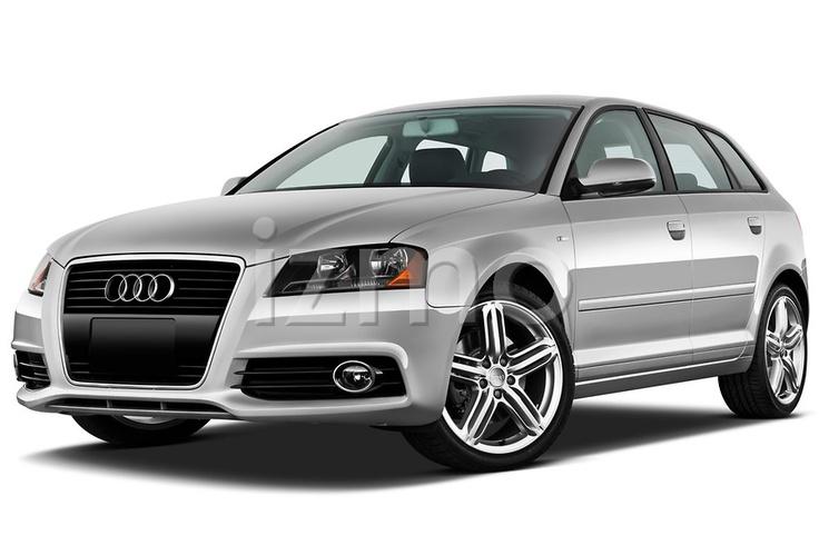 Low aggressive front three quarter view of a 2011 Audi A3 Premium Hatchback.