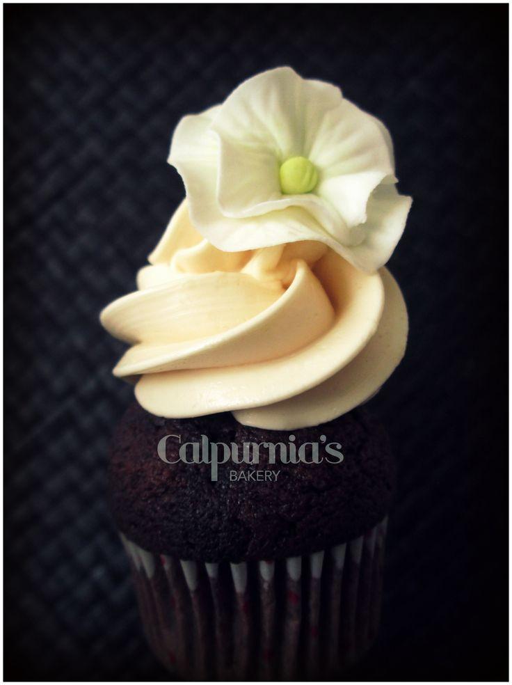 Chocolat & caramel cupcake