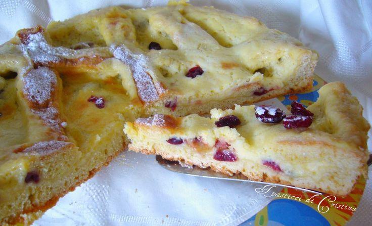 Crostata con crema di limoni e mirtilli rossi