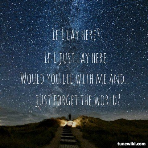 "Favorite song!!!-- #LyricArt for ""Chasing Cars"" by Snow Patrol"