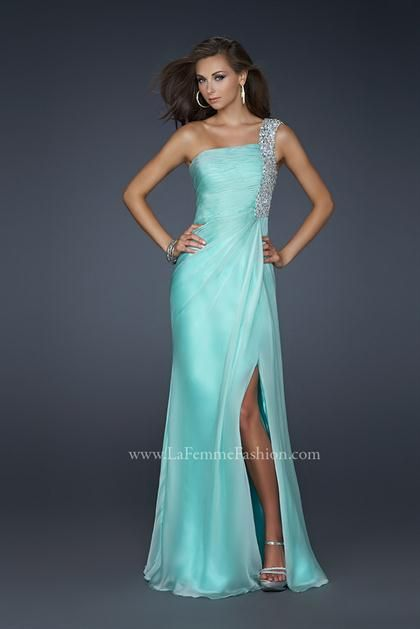 La Femme 17127 at Prom Dress ShopDresses Shops, Parties Dresses, Bridesmaid Dresses, One Shoulder, Chiffon Prom Dresses, Prom Parties, Prom Dresses Blue, Brides Maid, Rustic Wedding