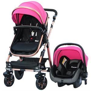 Yoyko Luxury Travel Sistem Bebek Arabası 3 İn 1 Pembe