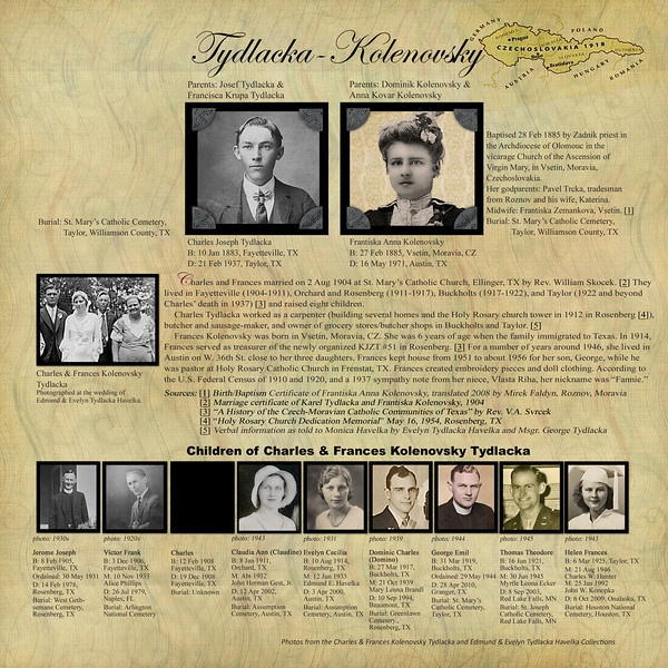 Great example and can use a silhouette if no pics. Tydlacka (Charles & Frances) Family Tree