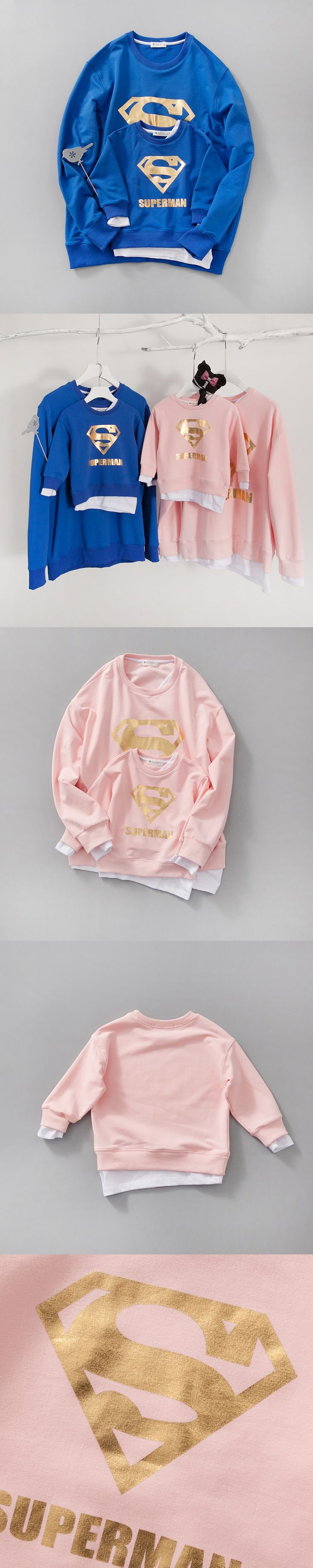 2017 Autumn Girls Jackets  Mother and Daughter Clothes Father and Son  outfits Superman Coat Christmas family matching Sweaters