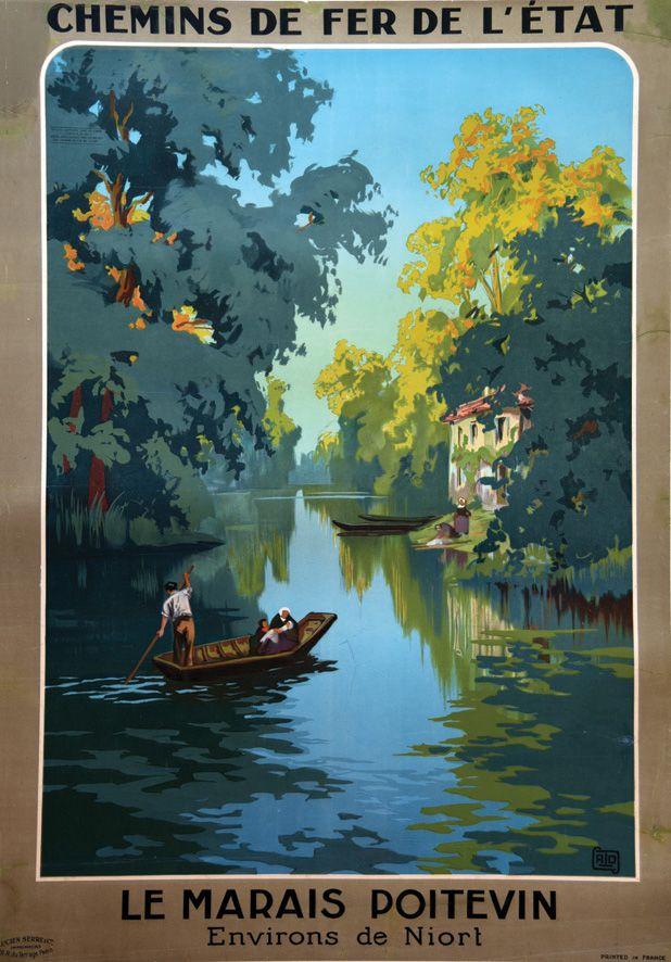 Le Marais Poitevin - Environs de Niort     vers 1925