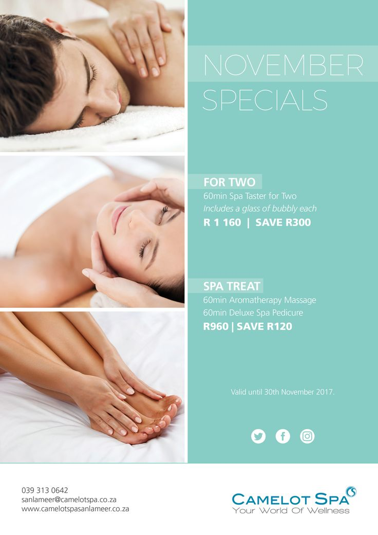 "The end of the year is approaching us at a rapid rate... Why not take this opportunity to have some ""YOU"" time ahead of the crazy season! Camelot Spa at San Lameer"