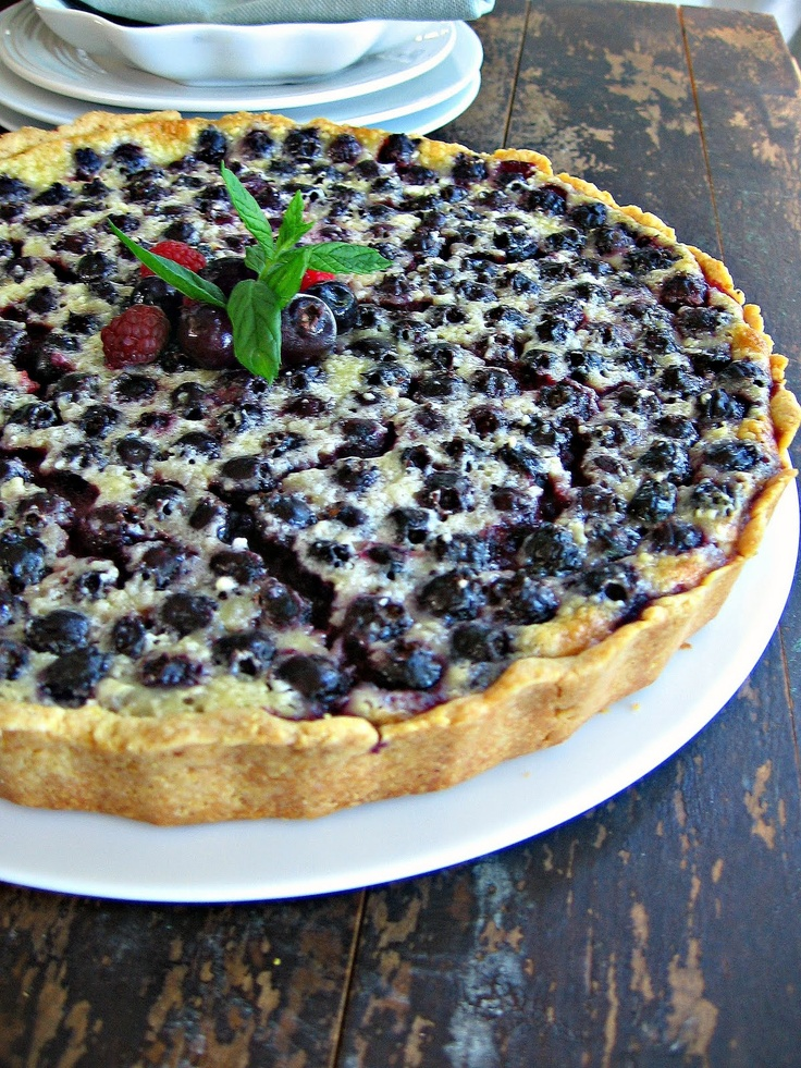 Saskatoon Berry Crème Fraîche Tart & An Anniversary