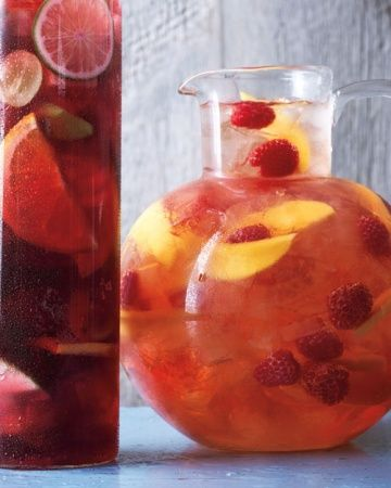 Raspberry-Mango Sangria  When you've DIY'ed your way into setting the right scene, greet your friends at the door with a refreshing cocktail...