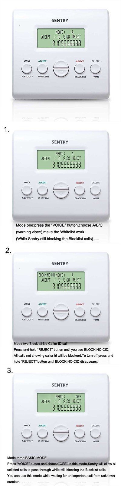 Caller ID Devices: Sentry V2.2 Telephone Call Blocker,Smart Automatic Blocking,Block All Spam -> BUY IT NOW ONLY: $67.04 on eBay!