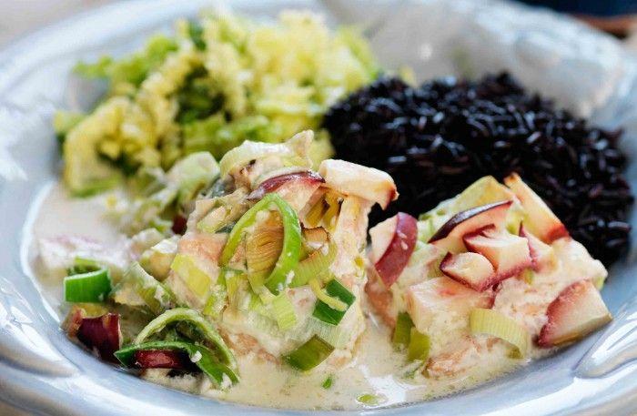Pepparrotsfisk med brynt smör och blomkålspuré