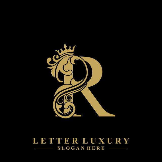 Initial Letter R Luxury Beauty Flourishes Ornament With Crown Logo Template Photo Logo Design P Logo Design Logo Design Branding Typography