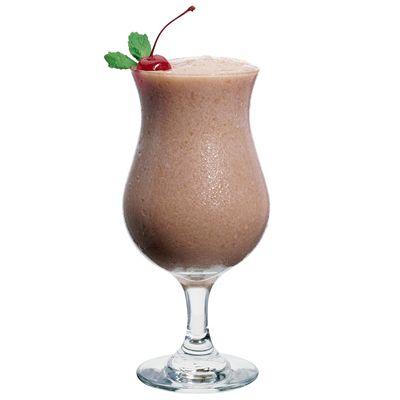 Baileys Frozen Russian (1 ounce(s) Baileys Irish Cream  1/4 ounce(s) Smirnoff No. 21 Vodka  1/4 ounce(s) Godiva Chocolate Liqueur  2 scoop(s) vanilla ice cream)