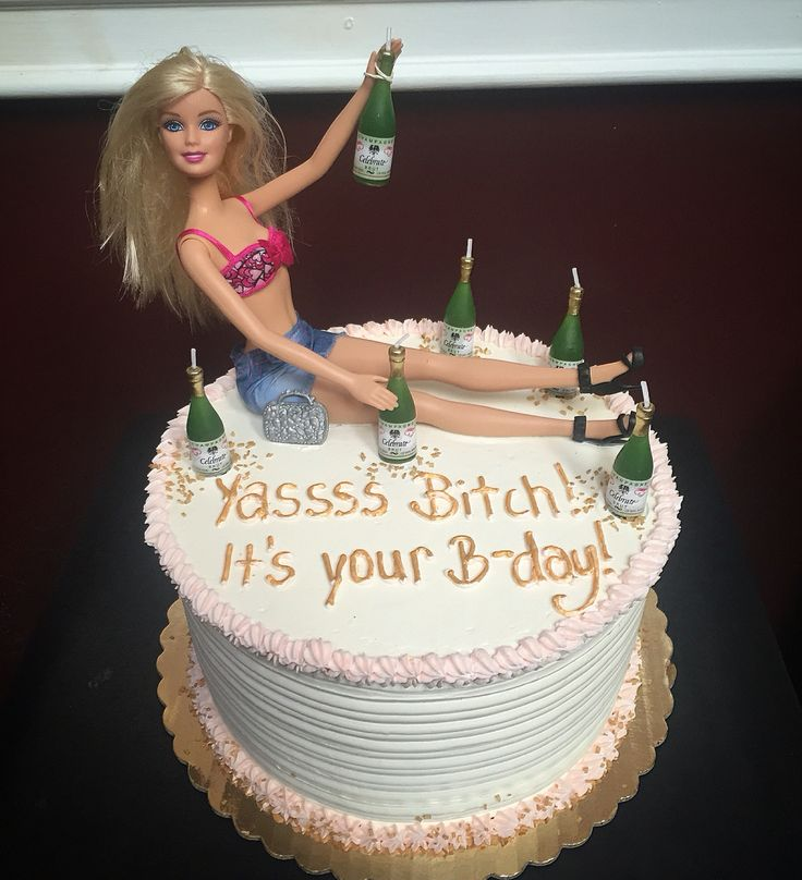 Drunk barbie champage cake