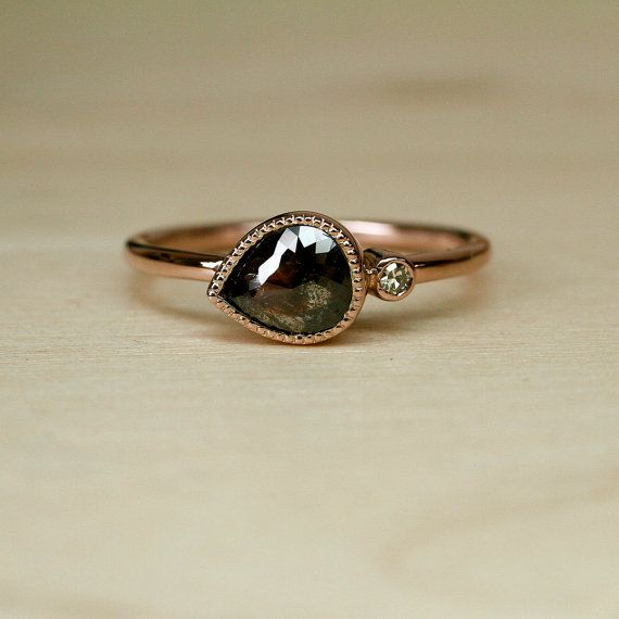 rose cut chocolate diamond engagement ring. yes please