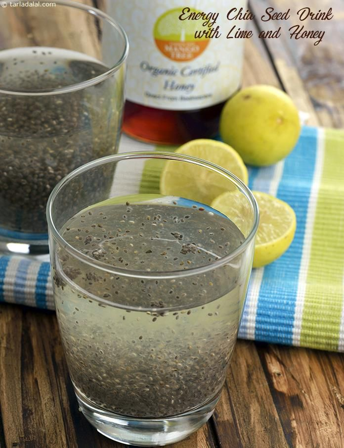 Energy Chia Seed Drink with Lime and Honey, For Endurance Athletes