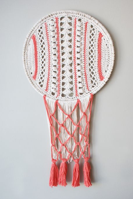2015006 Lacy Dreamcatcher Inspired Wall Hanging — Midknits