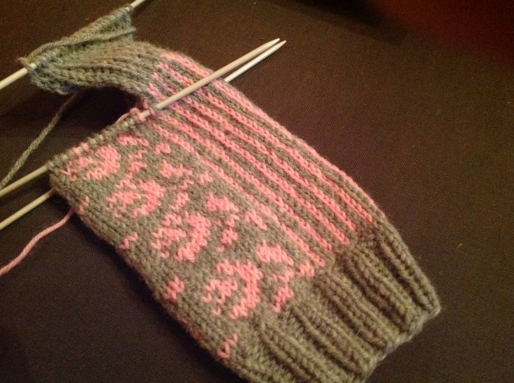 2015 first knit Kukkasukat, that I first saw on Pinterest.