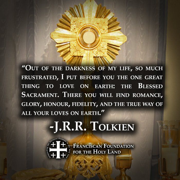 for all y'all Catholic Tolkien fans #Catholic #Eucharist #JRRTolkien