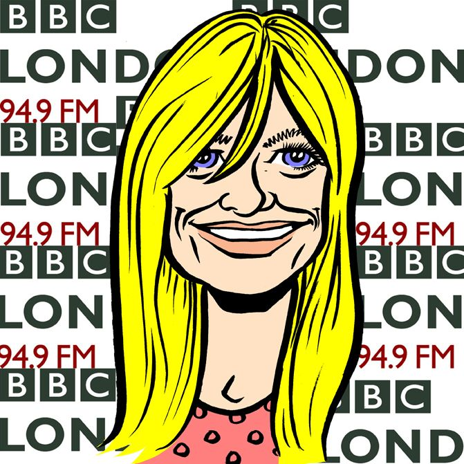 GABY ROSLIN told me on Twitter that she had lost the first ever caricature I had drawn of her at a party some years ago. So I produced this quick cartoon avatar