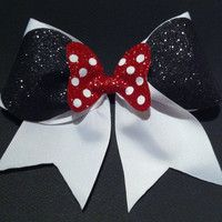 Minnie Mouse Cheer Bow August 2017