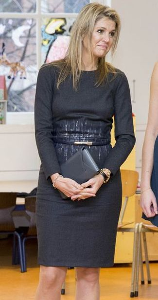 Queen Maxima of The Netherlands visits the Liduina school for a music on schools project in The Hague, The Netherlands on December 16, 2015.