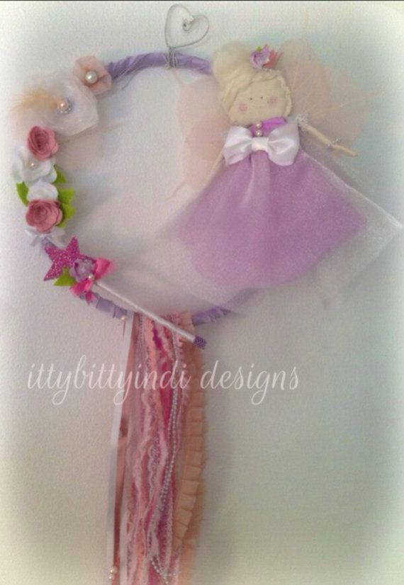 Sugarplum Fairy princess wall art mobile handmade pretty baby girls nursery bedroom decor woodland fairy on Etsy, $69.90 AUD