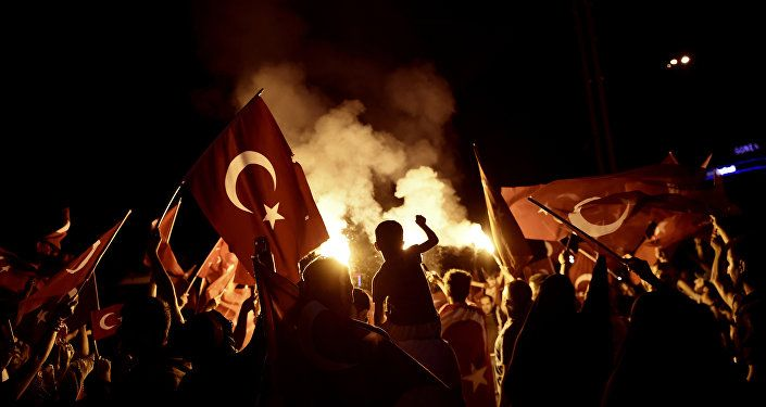 The Erdogan regime continues to play with fire renewing accusations that the United States spearheaded a complex conspiracy to overthrow the Turkish government.   Read more: http://sputniknews.com/middleeast/20160731/1043813275/erdogan-turkey-purge-gulen-coup.html#ixzz4G8MFU3Xk