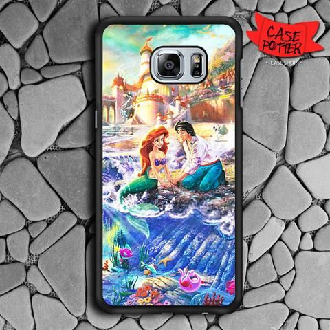 Disney Ariel And Eric Samsung Galaxy S6 Edge Plus Black Case
