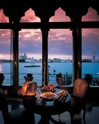 One for when you win the lottery—sunset view of Venice's Piazza San Marco from the Hotel Cipriani's 15th-century Palazzo Vendramin.
