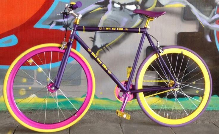 FunkedUp Customer build - Purple Frame with purple and yellow rims