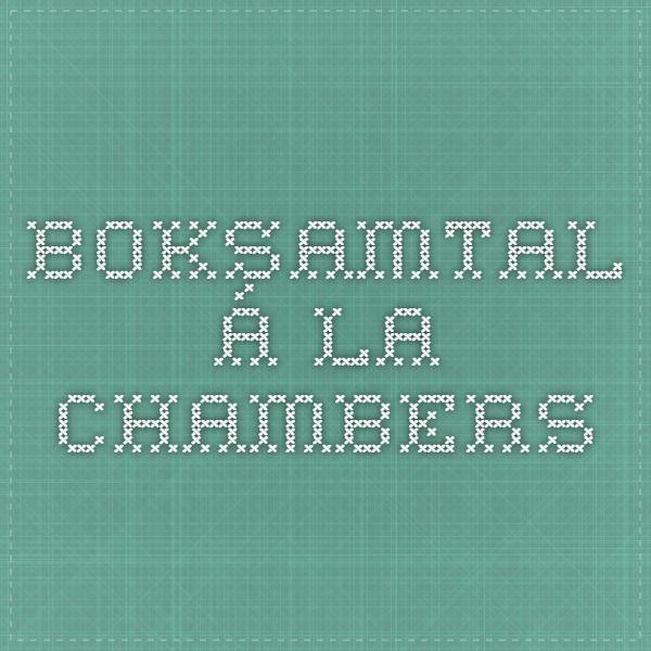 Boksamtal á la Chambers