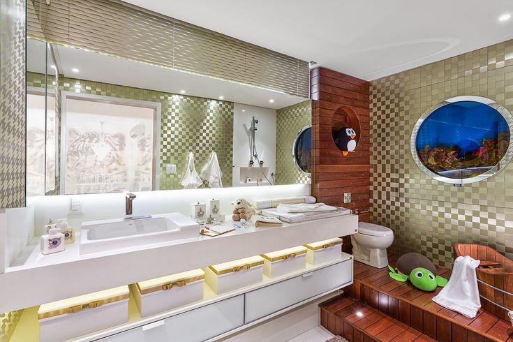 Banheiros de bebês – veja modelos lindos para meninas e meninos   dicas! Veja muito mais fotos, dicas e informações técnicas desse banheiro em Decor Salteado! É só clicar nas imagens! ; - )