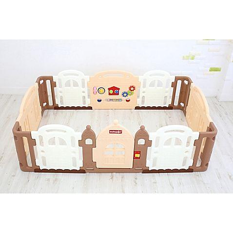 $260 Dwinguler Large Kid's Castle Playpen in Caramel