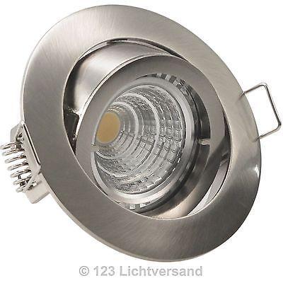 5er Set Decken Einbaustrahler PREMIO Edelstahl COB LED 5,5W = 60W DIMMBAR 230V; EEK A++sparen25.com , sparen25.de , sparen25.info