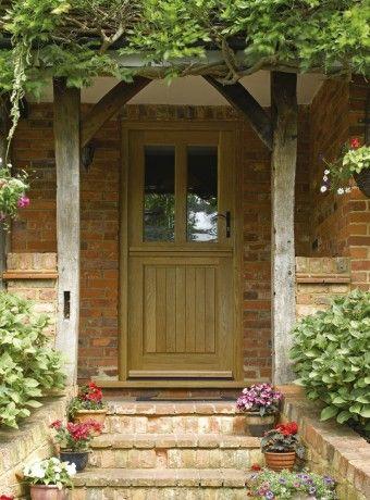 Traditional oak front door