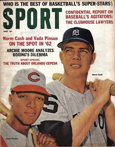 baseball magazines 1962 | 1962-Apr-Sport-Magazine-Baseball-Vada-Pinson-Cincinnati-Reds-Norm-Cash ...