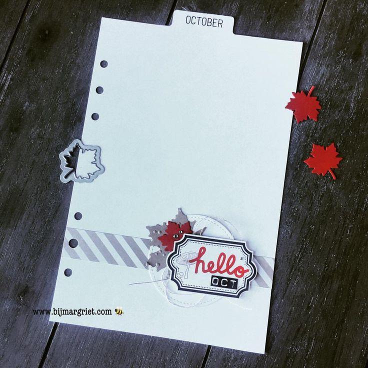 """Gefällt 20 Mal, 2 Kommentare - Margriet Tournier (@bijmargriet) auf Instagram: """"Creatief met restjes..... Het oktober tabblad is in ieder geval af, voordat de maand om is. 😅🍂🍃🍁 .…"""""""