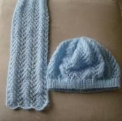 8ply Lace Scarf and Beanie 1 - via @Craftsy