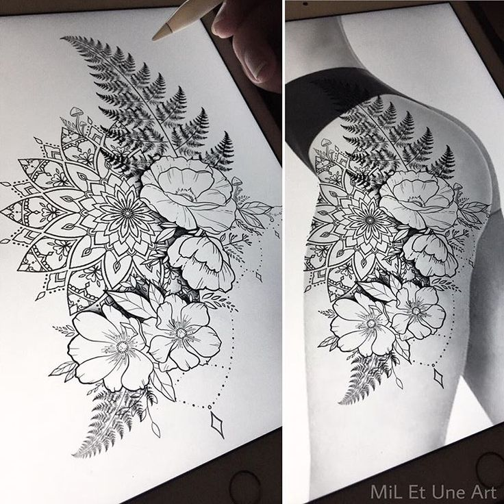 Tattoo Designs Up For Grabs: Floral Thigh/hip Design Up For Grabs ! Happy To Tattoo