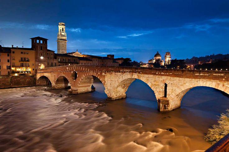 Verona at night. So pretty