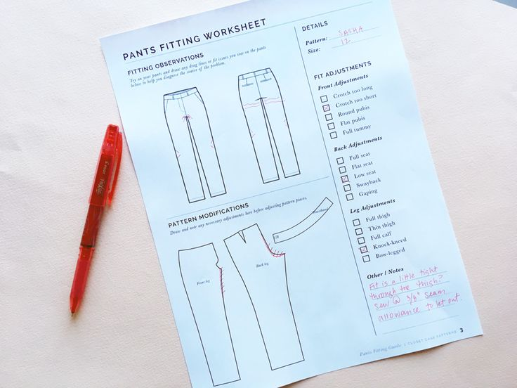 Pants Fitting Worksheet // Best tips for Pants Fitting // Closet Case Patterns