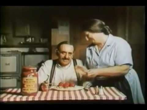 "Alka Seltzer commercial  - ""Mama Mia, that's a spicy meatball""  (1969) lol"