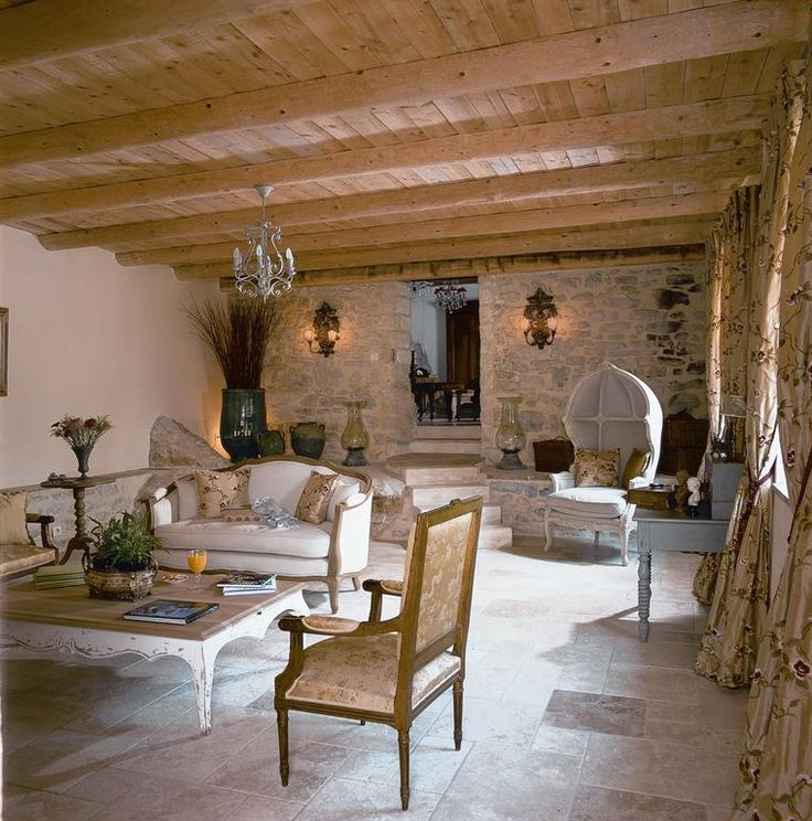 Living Room With A Countryside Chic Style In White And
