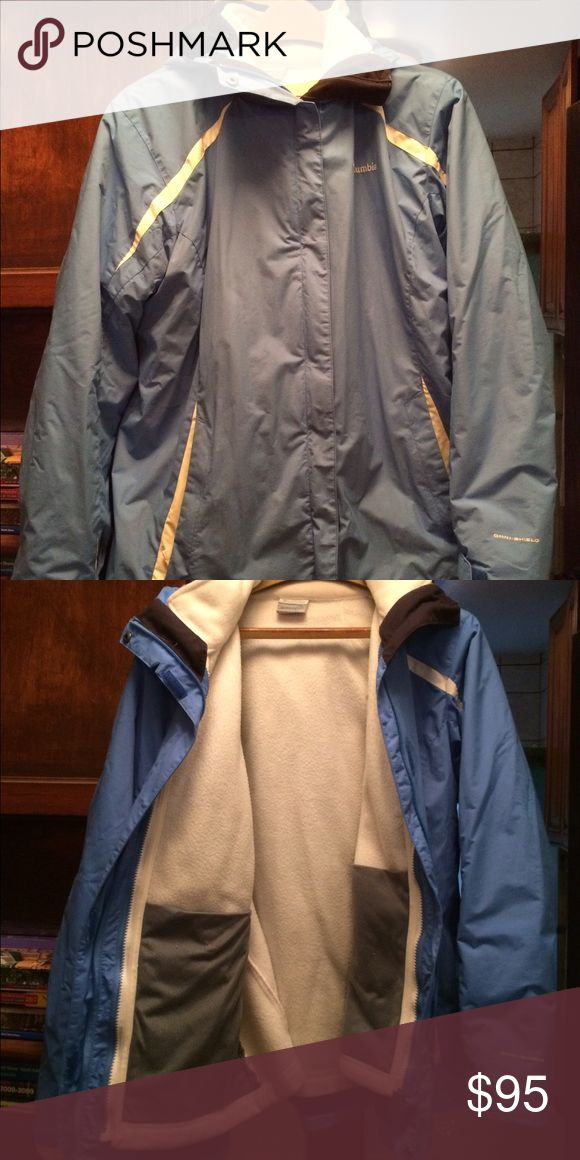 Columbia system winter jacket ❄️🌨 Ladies 1X Columbia system winter coat. I only wore this for one season, it's in truly excellent condition. Super warm, the fleece inside is incredibly soft and comfortable. Beautiful shade of blue! Columbia Jackets & Coats
