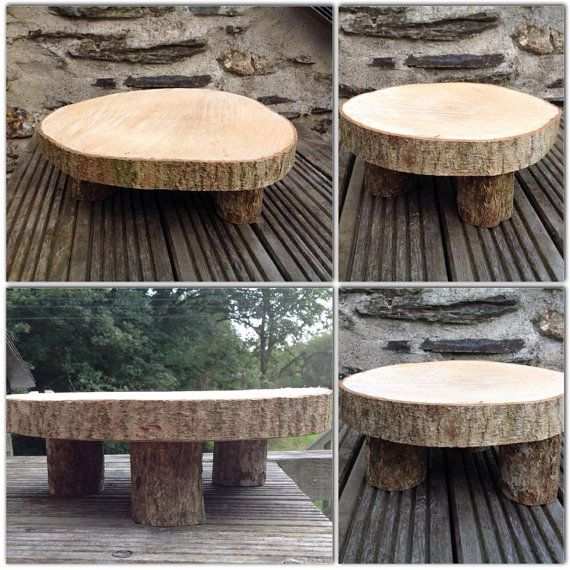 Rustic Cake stand.  Great for special occasions by CakeCarousel