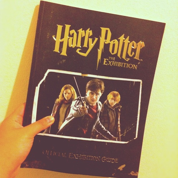 My copy of the Harry Potter exhibition book! Definitely worth the purchase!!  #HarryPotter #Potter #JKRowling #Hogwarts #HarryPotterExhibition #HPExhibition #programmebook