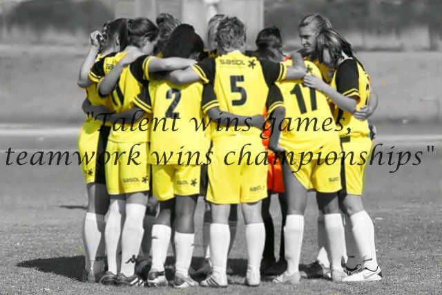 Teamwork wins Championships! Believe and you will achieve. https://www.facebook.com/pages/JVW-Girls-Football-Development/246754088760303