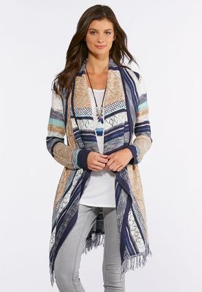 88225dceda Cato Fashions Striped Fringe Cardigan Sweater #CatoFashions | Church ...