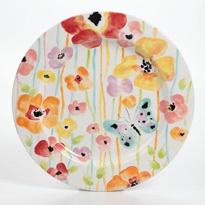 Flowery Watercolor Wonders Charger