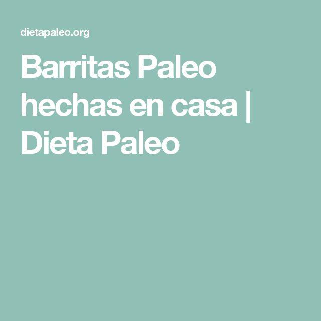 Barritas Paleo hechas en casa | Dieta Paleo